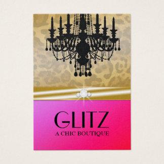 311 Glitz Boutique Leopard Diamond Purple Punch Business Card