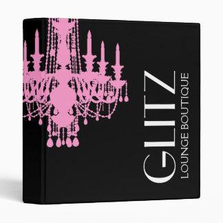 311 Glitz Boutique - Pink Chandelier Vinyl Binder