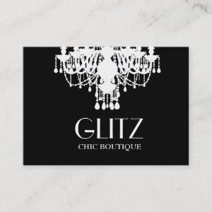311 Glitz Boutique White Chandelier Business Card