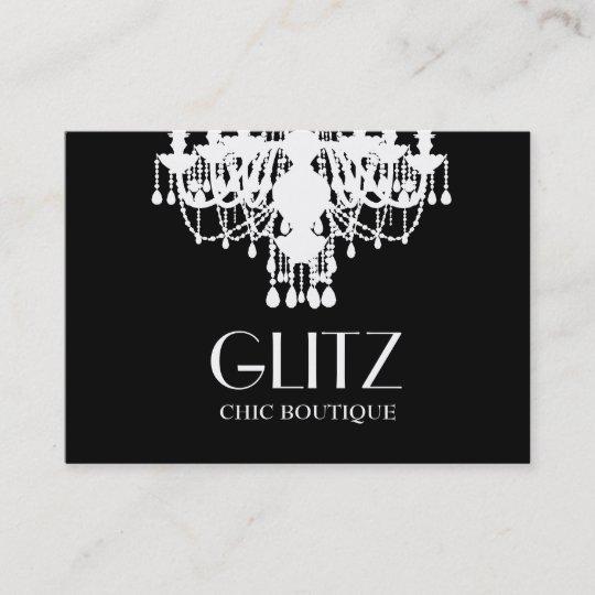 311 glitz boutique white chandelier business card zazzle 311 glitz boutique white chandelier business card reheart Gallery