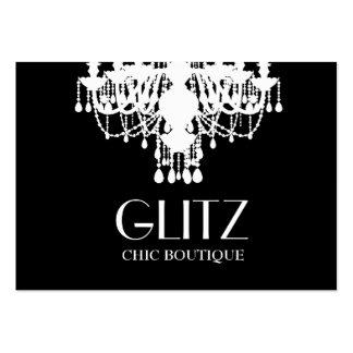 311 Glitz Boutique White Chandelier Large Business Card