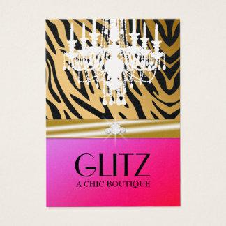 311-Glitz Boutique - Zebra Diamond Purple Punch Business Card