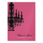 """311-Glitz lámpara - color de rosa metálico de la Invitación 5"""" X 7"""""""