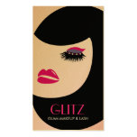 311 Glitz Lash Makeup Hot Pink Purple Shadow Double-Sided Standard Business Cards (Pack Of 100)