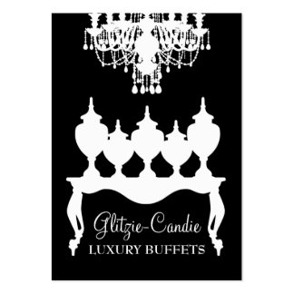 311 Glitzie Candie Black Rococo Large Business Cards (Pack Of 100)