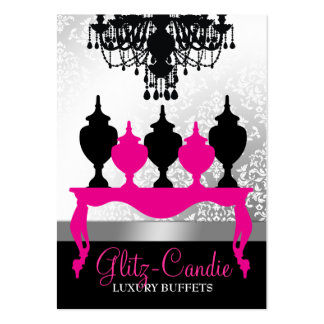 311 Glitzie Candie Pink Table Large Business Cards (Pack Of 100)