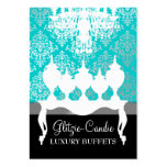 311 Glitzie Candie Turquoise & Black Business Card Template