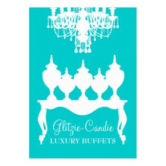 311 Glitzie Candie Turquoise Large Business Cards (Pack Of 100)