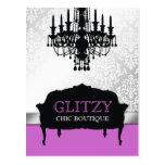 311 Glitzy Chic Boutique Purple Postcard