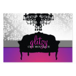 311 Glitzy Chic Boutique Purple Radiance Large Business Cards (Pack Of 100)