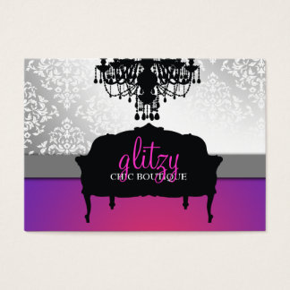 311 Glitzy Chic Boutique Purple Radiance Business Card