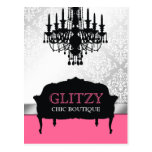 311-Glitzy Chic Boutique - Rose Pink Vertical Postcard
