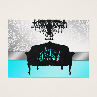 311 Glitzy Chic Boutique Turquoise Metallic Business Card