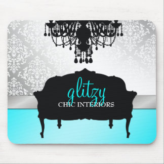 311 Glitzy Chic Boutique Turquoise Mouse Pad