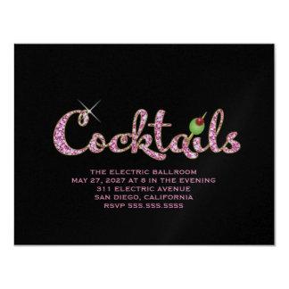 311 Glitzy Cocktails Bubble Gum Pink Metallic Card