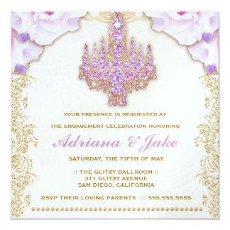 311 Glitzy Purple Chandelier Metallic Card