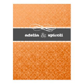 "311 GNARLY ORANGE SUNSET ""GRUNGE"" INVITATION POSTCARD"