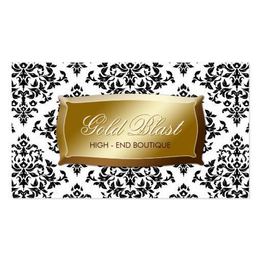 311 Gold Blast Damask Business Cards