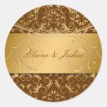 311-Golden adivinan al pegatina marrón