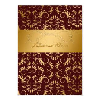 """311-Golden adivinan bingo nupcial del chocolate Invitación 5"""" X 7"""""""