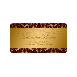 311-Golden adivinan el chocolate Etiqueta De Dirección