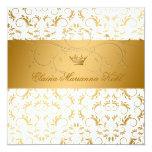 311-Golden adivinan el dulce blanco 16 del placer Invitación 13,3 Cm X 13,3cm