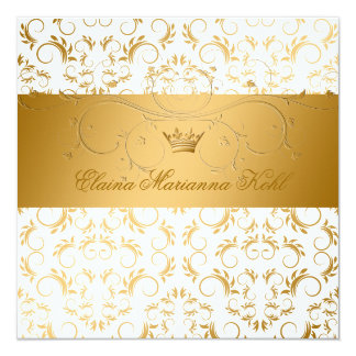 """311-Golden adivinan el dulce blanco 16 del placer Invitación 5.25"""" X 5.25"""""""