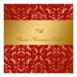 311-Golden adivinan el dulce dulce 16 del rojo Invitaciones Personales