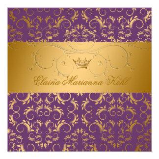 311-Golden adivinan el dulce púrpura 16 de Royale Invitación