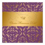 311-Golden adivinan el dulce púrpura 16 de Royale Invitación 13,3 Cm X 13,3cm