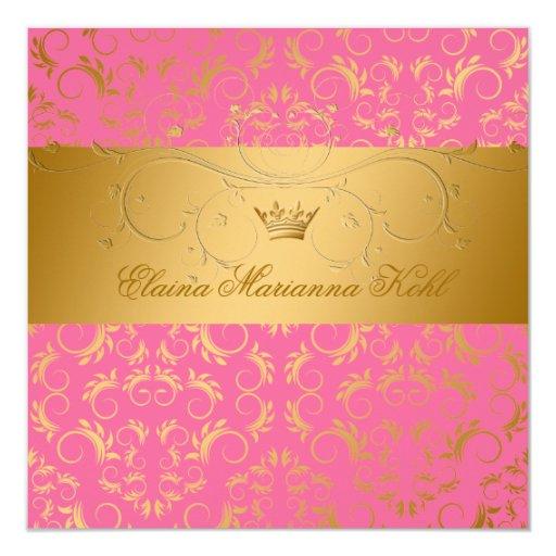 311-Golden adivinan el dulce quemado 16 de la Invitación 13,3 Cm X 13,3cm