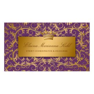 311-Golden adivinan púrpura de la berenjena Tarjetas De Visita