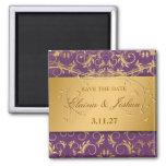 311-Golden adivinan reserva de la púrpura de la be Imán Cuadrado