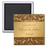311-Golden adivinan reserva marrón la fecha Imán Cuadrado