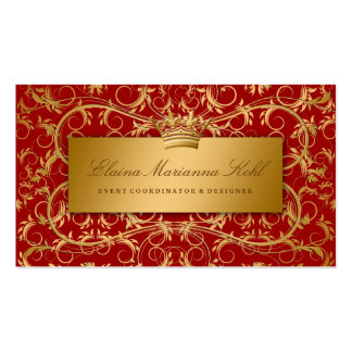 311-Golden adivinan rojo cereza dulce Tarjetas De Visita