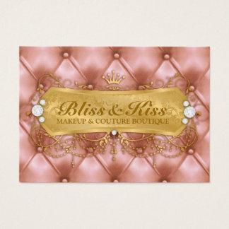311 Golden Bliss Peach Tuft Metallic Business Card