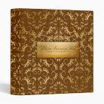 311-Golden diVine #2  Chocolate Brown Binder