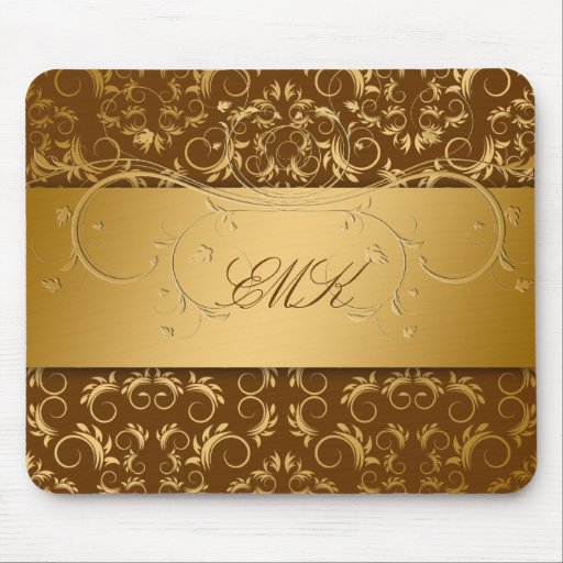 311-Golden diVine Chocolate Brown mousepad