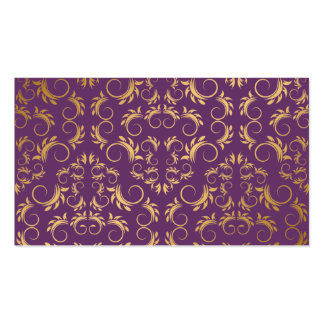 311-Golden diVine Eggplant Purple Place Card Double-Sided Standard Business Cards (Pack Of 100)