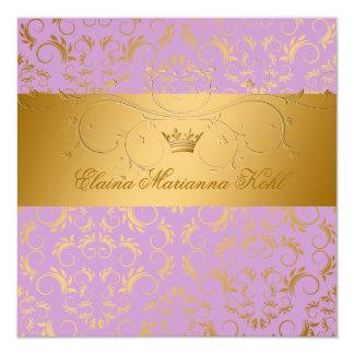 311-Golden diVine Lavender Brulee Sweet 16 Card