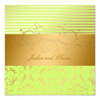 311 Golden Divine Lime Stripes 5.25 x 5.25 Card