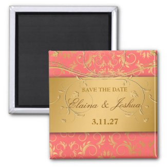 311-Golden diVine Mango Save the Date magnet