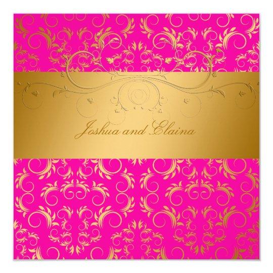 311-Golden diVine Passion Pink  5.25 x 5.25 Card