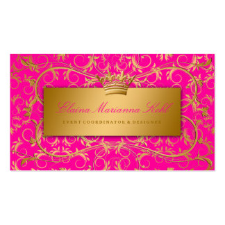 311 Golden diVine Passion Pink Double-Sided Standard Business Cards (Pack Of 100)
