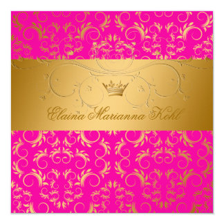 311-Golden diVine Passion Pink Sweet 16 Card