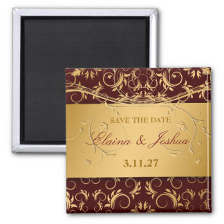 311-Golden diVine Save the Date Magnet