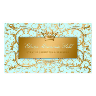 311 Golden diVine Sky Blue Double-Sided Standard Business Cards (Pack Of 100)