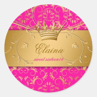 311-Golden diVine Sticker Passion Pink