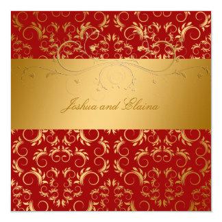 311-Golden diVine Sweet Cherry Red 5.25 x 5.25 Card