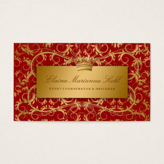 311-Golden diVine Sweet Cherry Red Business Card